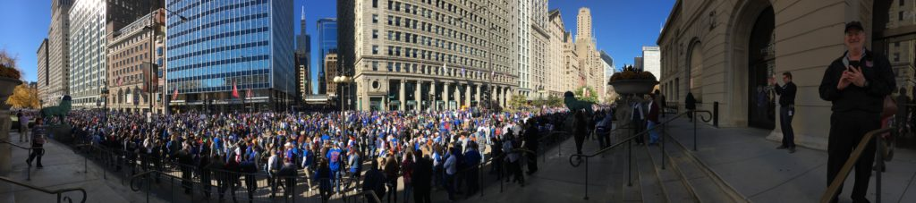 Millions gathered for the Cubs parade