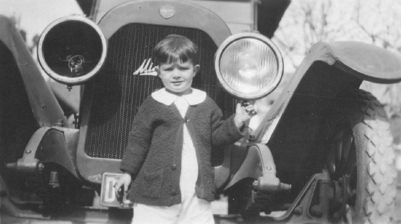 Rae with Big Car