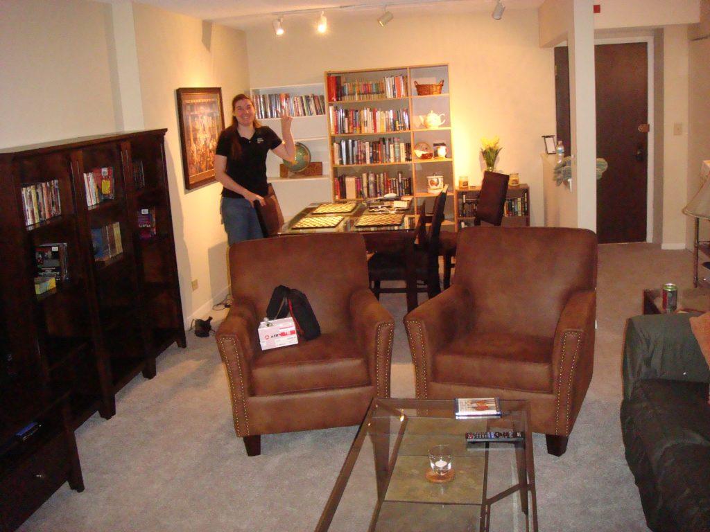 Dani's Evanston condo dinign and living