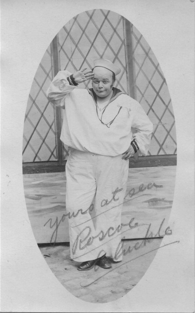 """Hand-signed photo from Roscoe """"Fatty"""" Arbuckle to Ruth Bouett"""