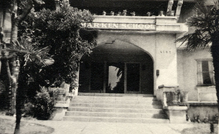 Marjorie and Rae attended Mar-Ken, a small private school popular in the movie industry.